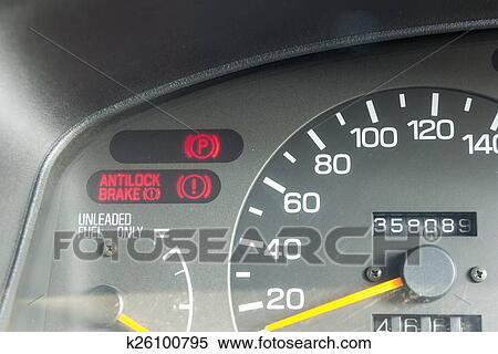 Stock Bild - auto, armaturenbrett, warnung, lichter, symbole ... | {Armaturenbrett symbole 71}