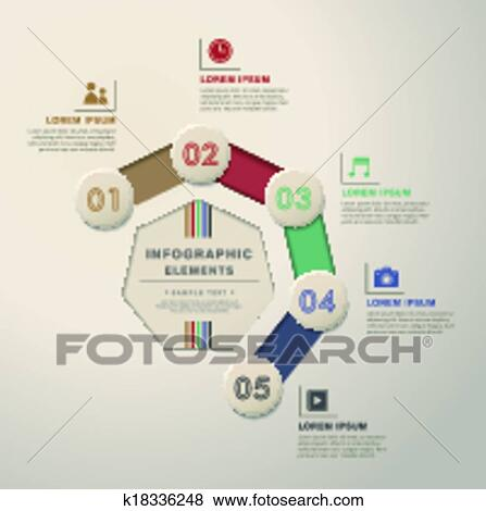 Clip art of abstract flow chart infographics k18336248 search 3d vector abstract flow chart infographic elements ccuart Image collections