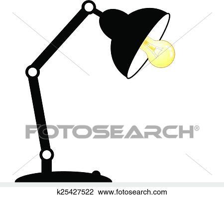 Schreibtischlampe clipart  Clipart - schreibtischlampe k25427522 - Suche Clip Art ...