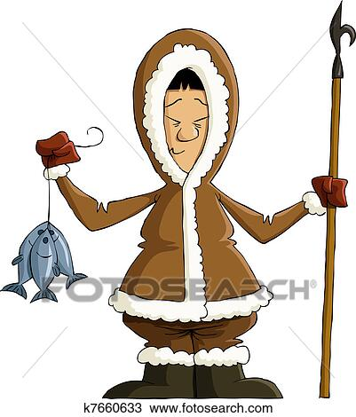 Clip Art Eskimo Clipart clipart of eskimo k7660633 search clip art illustration murals fotosearch drawings and vector