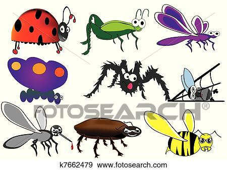 Cute insect drawing - photo#3