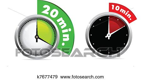 Clip art of 10 and 20 minutes timer k7677479 search clipart clip art 10 and 20 minutes timer fotosearch search clipart illustration posters publicscrutiny Image collections