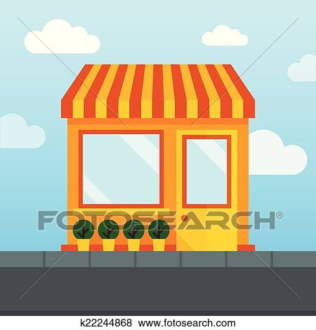 Clip Art of Empty store front k22244868 - Search Clipart ...
