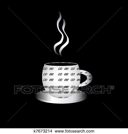 手绘图 - coffe杯, 装满