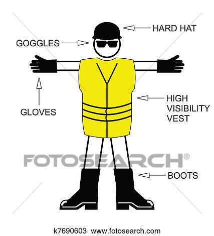 Clipart Of Construction Health And Safety K7690603