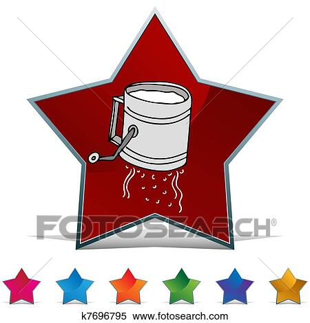 Clipart of Flour Sifter Button Set k7696795 - Search Clip ...