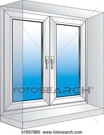 Fenster schließen clipart  Clipart - weiß, plastik, fenster k7697885 - Suche Clip Art ...