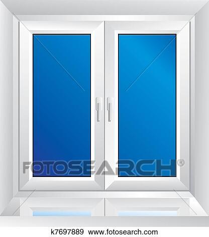 Fenster clipart schwarz weiß  Clipart - weiß, plastik, fenster k7697890 - Suche Clip Art ...