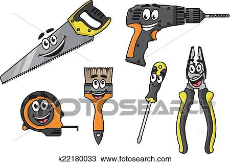Clipart dessin anim bricolage outils caract res - Clipart bricolage ...