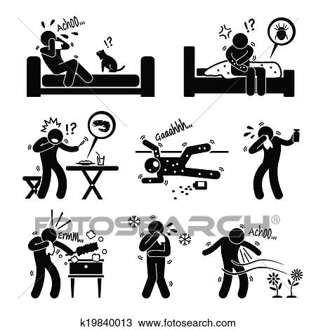 clipart allergie allergisch reaktionen cliparts. Black Bedroom Furniture Sets. Home Design Ideas