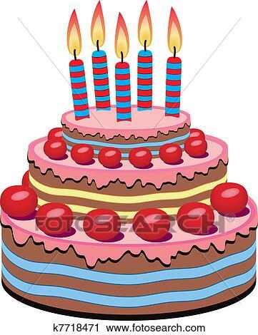 剪贴画 - 生日蛋糕