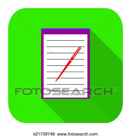 clip art of icon notebook k21739748 search clipart illustration rh fotosearch com notebook clipart paper notebook clipart free