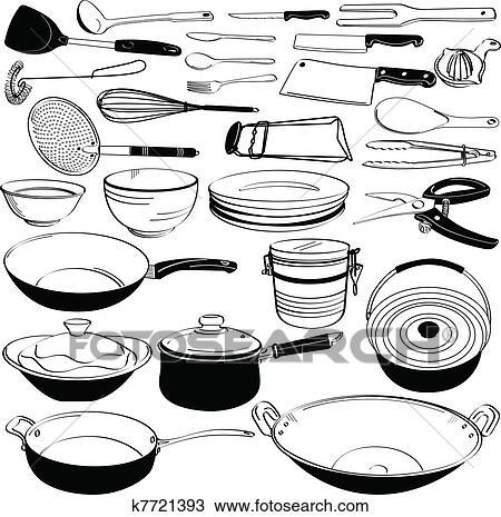 Kitchen Utensils Drawings Kitchen Tool Utensil Equipment
