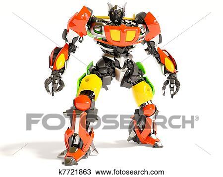 手绘图 机器人