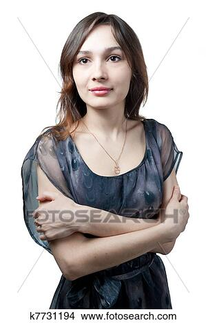 Sexy Mdchen in wei Stockfoto #4701161