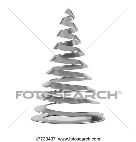 stock illustration silber stilisiert weihnachtsbaum. Black Bedroom Furniture Sets. Home Design Ideas