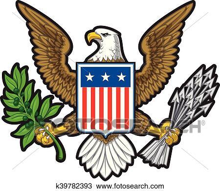 Clipart Of American Eagleeps K39782393 Search Clip Art