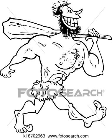 cave man coloring pages - photo#16