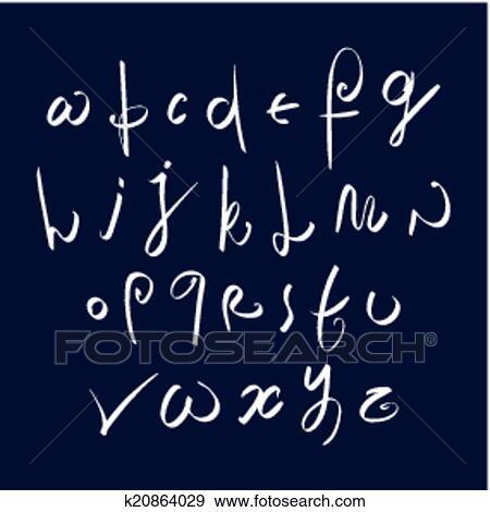 Clip Art - mano escrita, fresco, vector, fuente, elegante ...