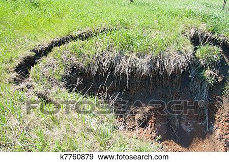 Stock photograph of soil erosion k7760879 search stock for Soil erosion in hindi