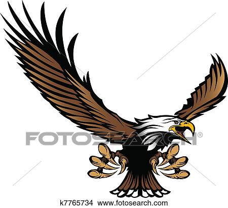 Eagle Claws Clipart Clipart Eagle Mascot Flying