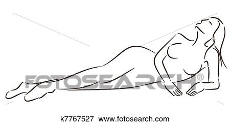 Girl Laying Down Clipart