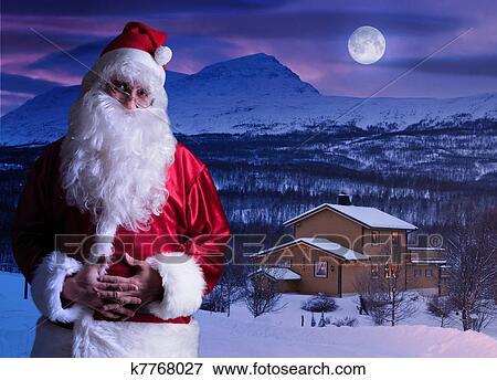 bild portr t von weihnachtsmann an dass nordpol. Black Bedroom Furniture Sets. Home Design Ideas