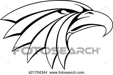 clipart aigle t te illustration k21704344 recherchez. Black Bedroom Furniture Sets. Home Design Ideas