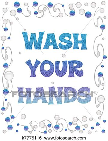 Your hands bubbles fotosearch search clip art drawings fine art