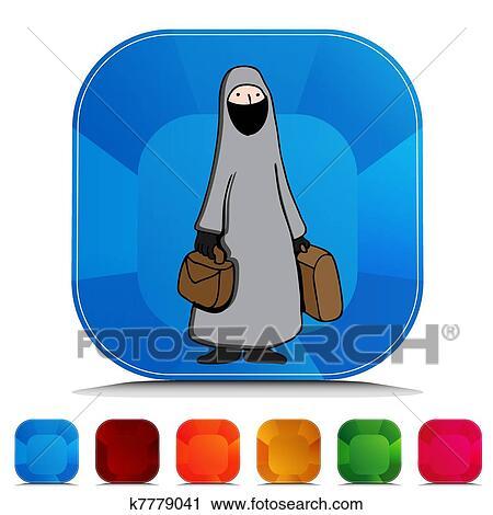 Women Wearing Burka Clip Art