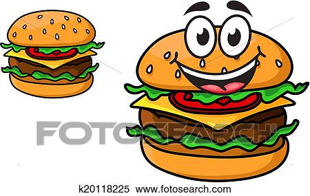 clipart of cartoon cheeseburger with a laughing face k20118225 rh fotosearch com bacon cheeseburger clip art bacon cheeseburger clip art