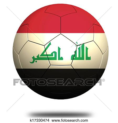 手绘图 - 伊拉克, 足球图片