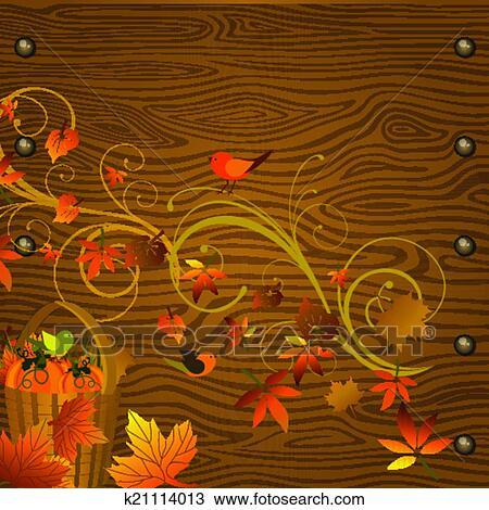 剪贴画 - 秋天, 背景