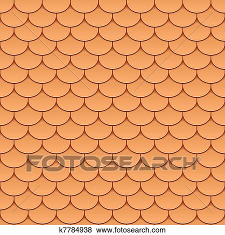 clip art of seamless roof tiles k7784938 search clipart