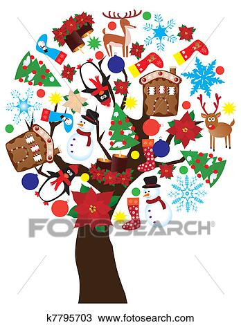 剪贴画 - 新年, 树图片