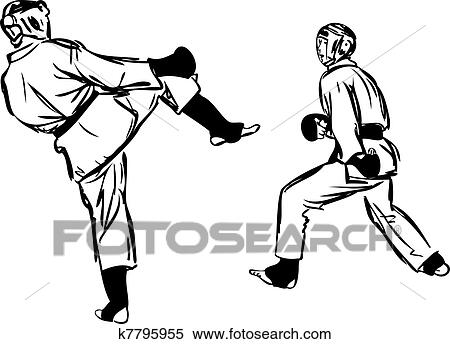 clipart of karate kyokushinkai martial arts sports k7795955 search rh fotosearch com karate clipart free download karate clipart png