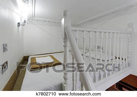 Stock photography of mezzanine bed k7802710 search stock photos pictures wall murals images - Bed mezzanie kind ...