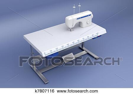 Banque d 39 illustrations 3d industriel machine coudre for Machine a coudre 3d