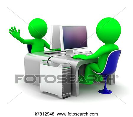 Büroarbeitsplatz clipart  Workplace Illustrations and Clipart. 18,354 workplace royalty free ...