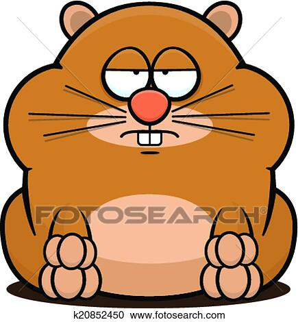 clipart of cartoon hamster tired k20852450 search clip art rh fotosearch com hamster clipart black and white hamster clipart gif