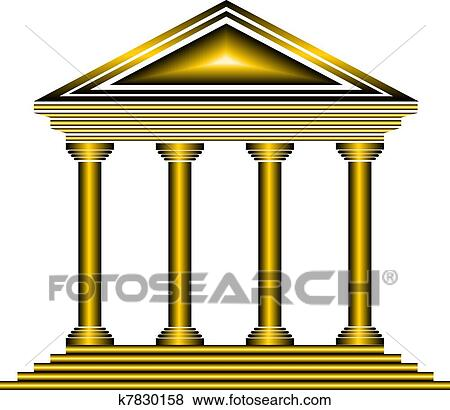 clip art of gold bank icon k7830158 search clipart illustration rh fotosearch com clipart back pain clipart back pain