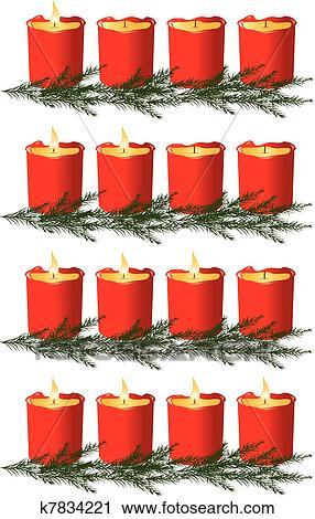 clipart weihnachten vorweihnachten kerzen k7834221. Black Bedroom Furniture Sets. Home Design Ideas