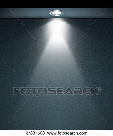 Clip Art of Lighted Wall Lamp. Vector k7837508 - Search Clipart, Illustration Posters, Drawings ...