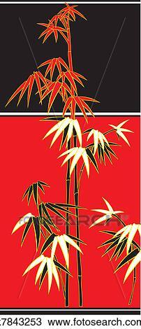 剪贴画 - 竹子, 甘蔗,
