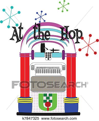 Clipart of at the hop k7847325 - Search Clip Art, Illustration Murals ...