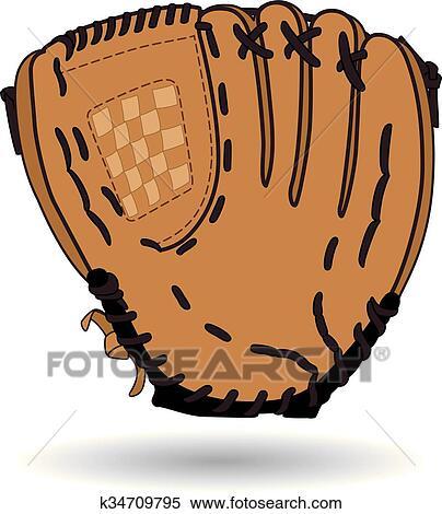 clipart of baseball glove k34709795 search clip art illustration rh fotosearch com baseball mitt clipart black and white baseball glove clipart black and white