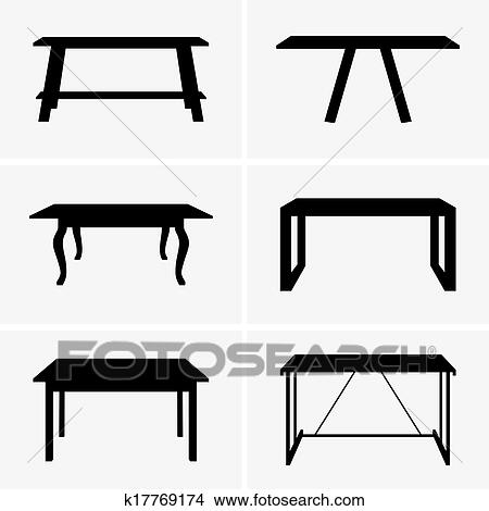 Clipart of Tables k17769174 - Search Clip Art, Illustration Murals ...