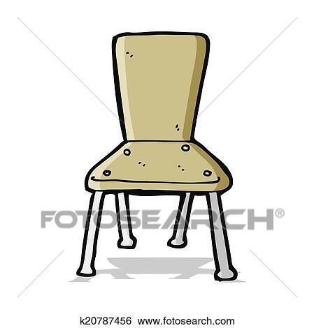Clipart dessin anim vieux cole chaise k20787456 for Chaise dessin