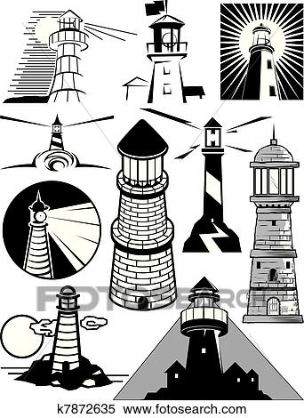 clipart of lighthouse collection k7872635 search clip