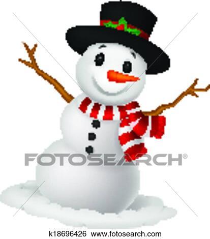 Clipart no l bonhomme de neige dessin anim porter a - Clipart bonhomme de neige ...